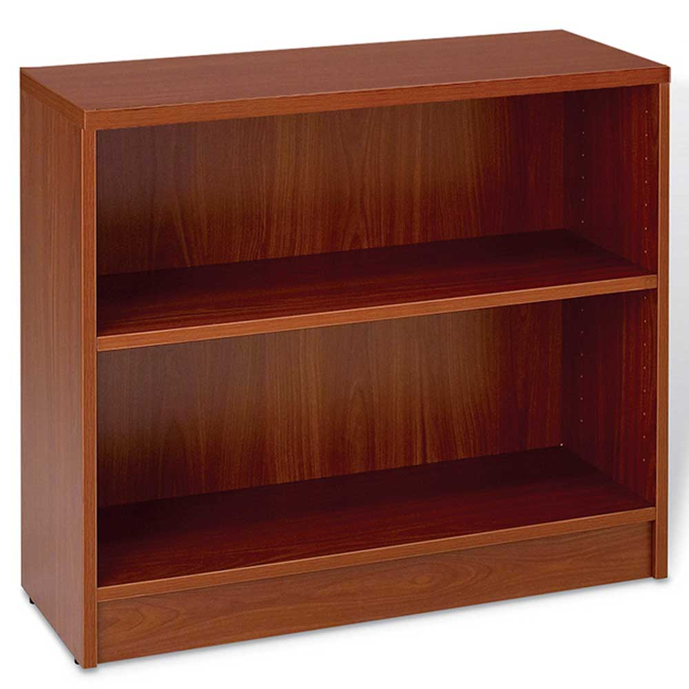 J&K cherry laminate one shelf bookcase