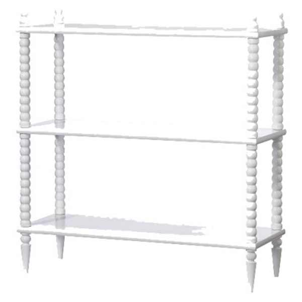Jenny Lind Small Bookcase in Pure White