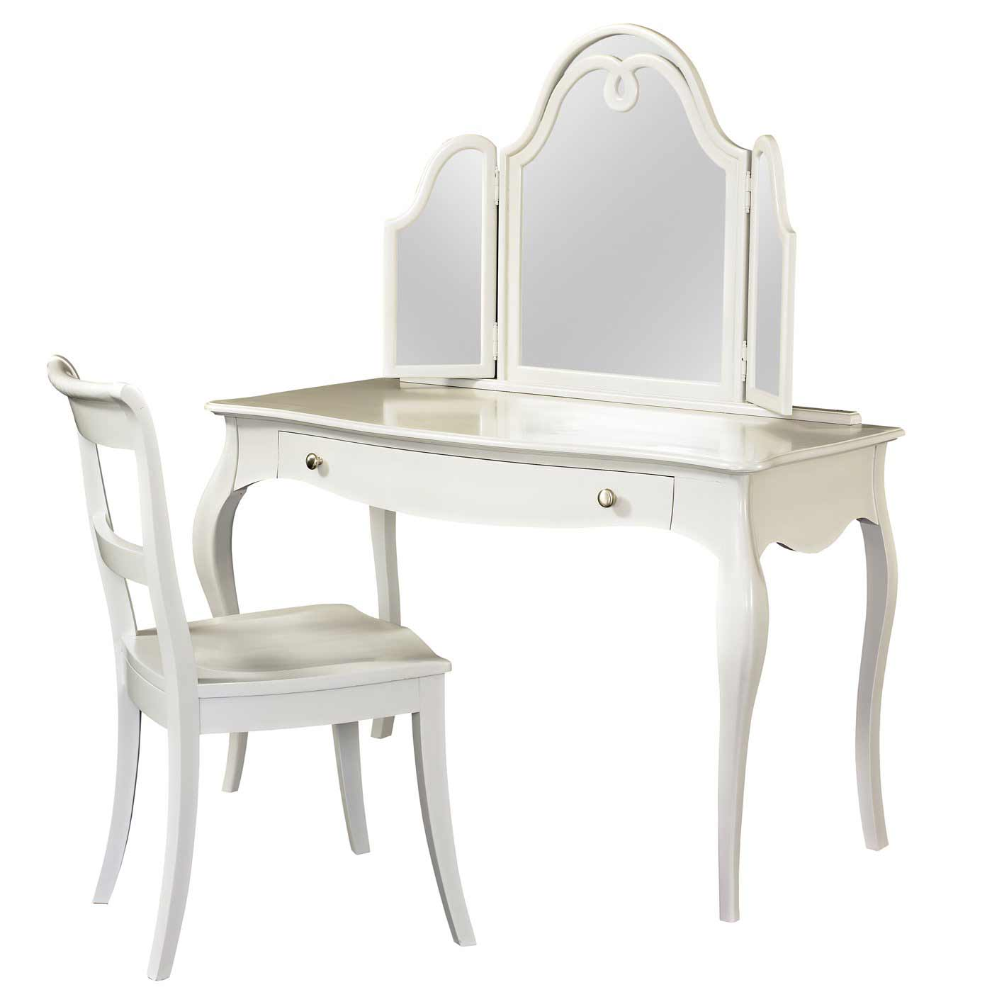 Jepara white secretary furniture desk