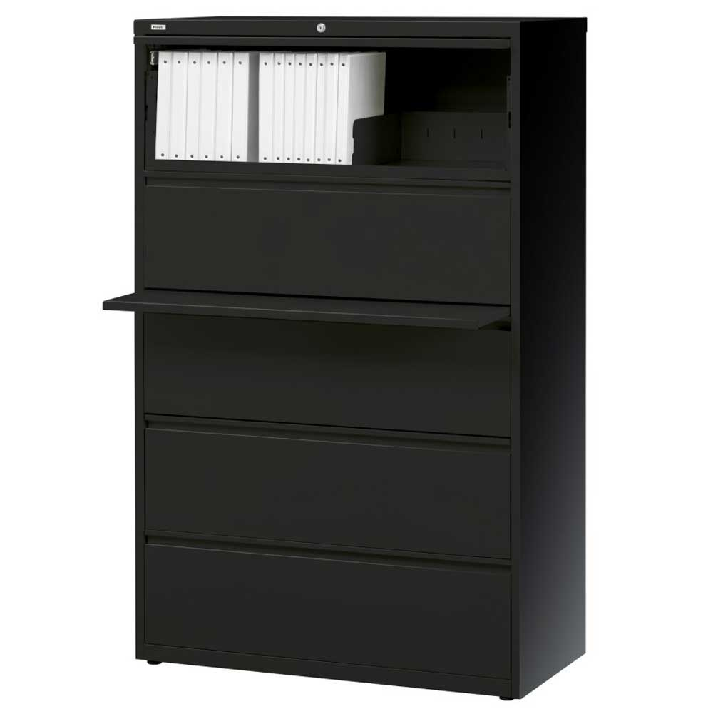Lorell lateral filing cabinets for home with top rack