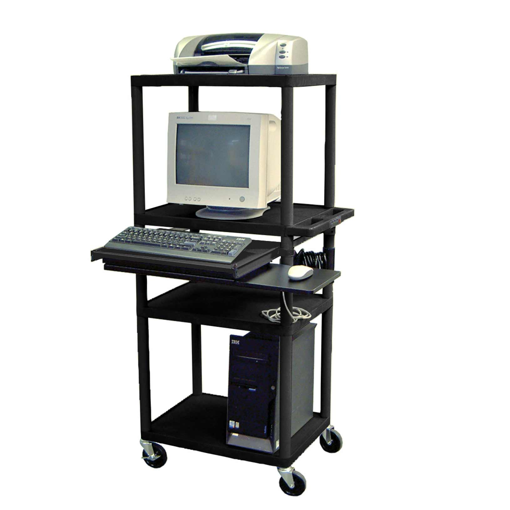 Luxor black computer stand workstation