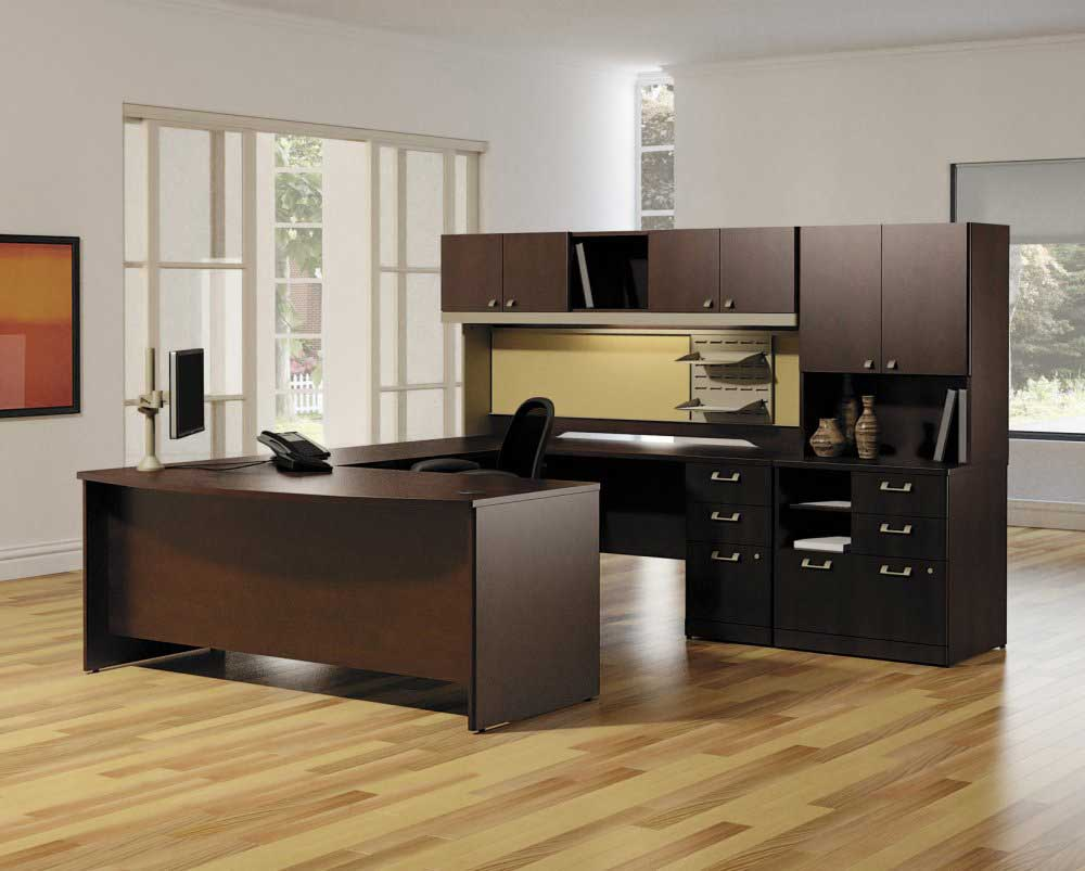 Modular Office Furniture Spokane Design in Cherry