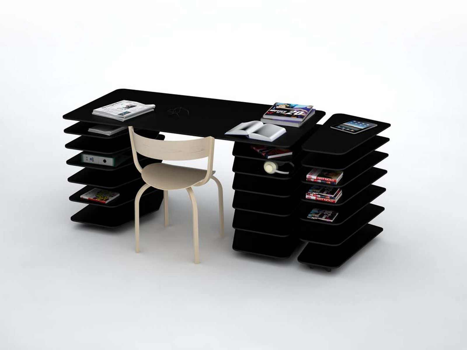 Mathieu Lehanneur black office strates system desk furniture