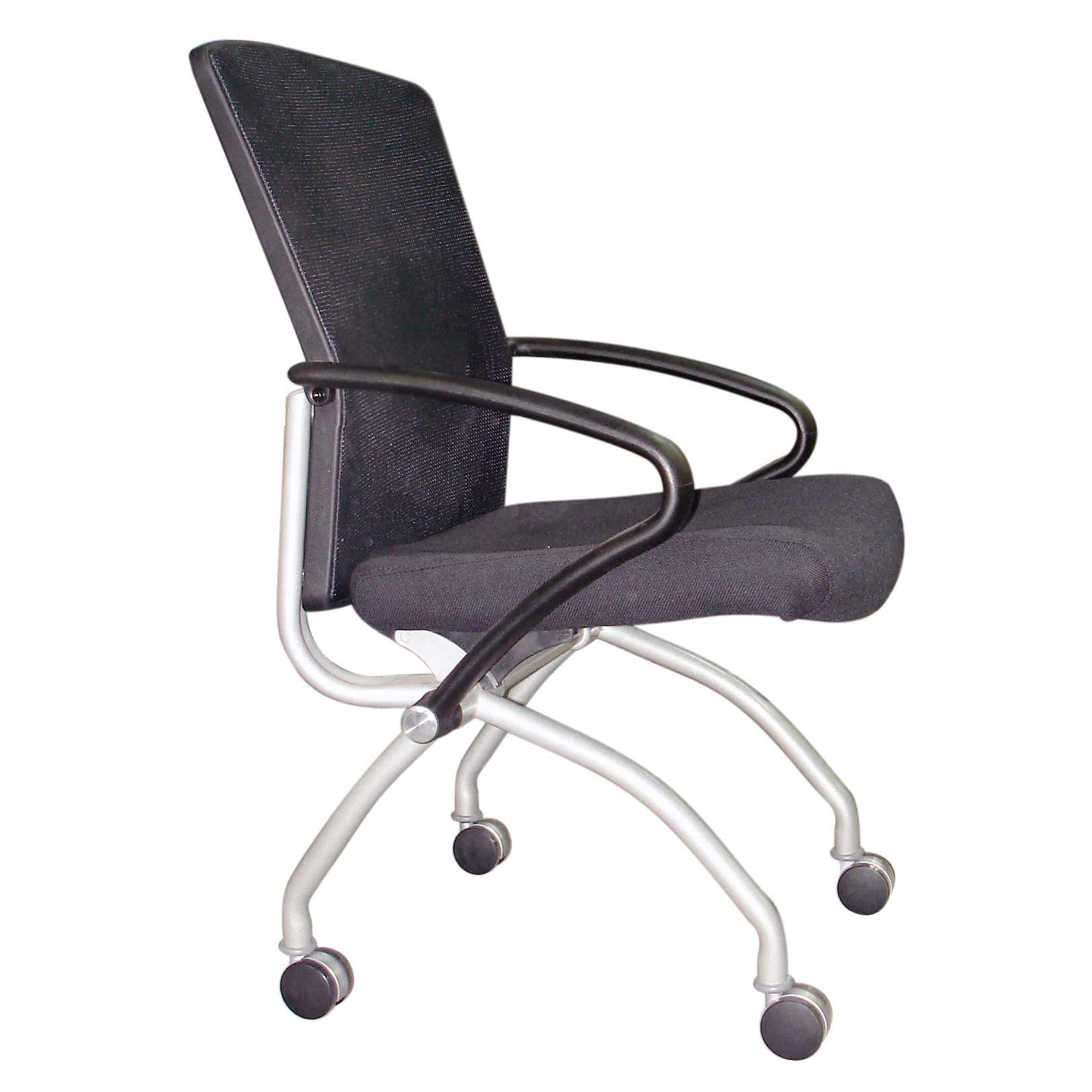 Mid Back Big Office Chair with Wheels