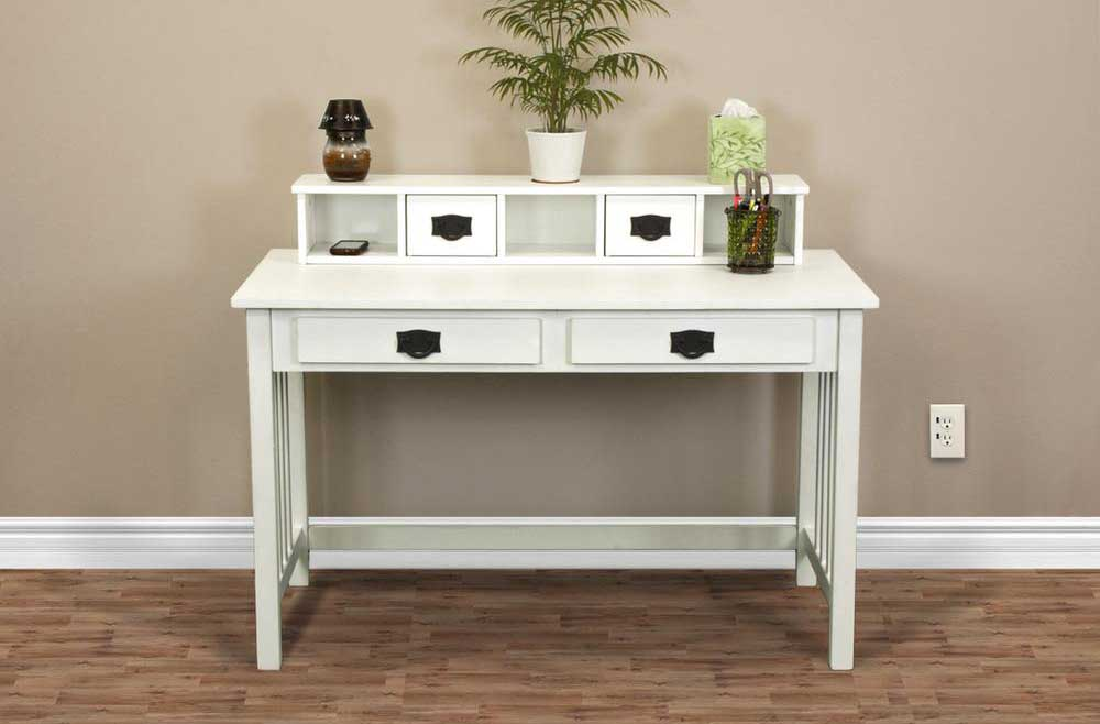 Misson home office white wood desks
