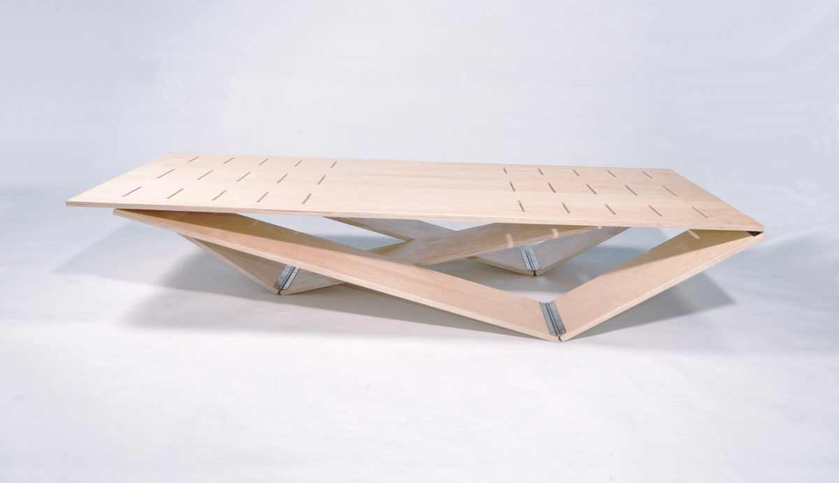 Modern wooden folding table design