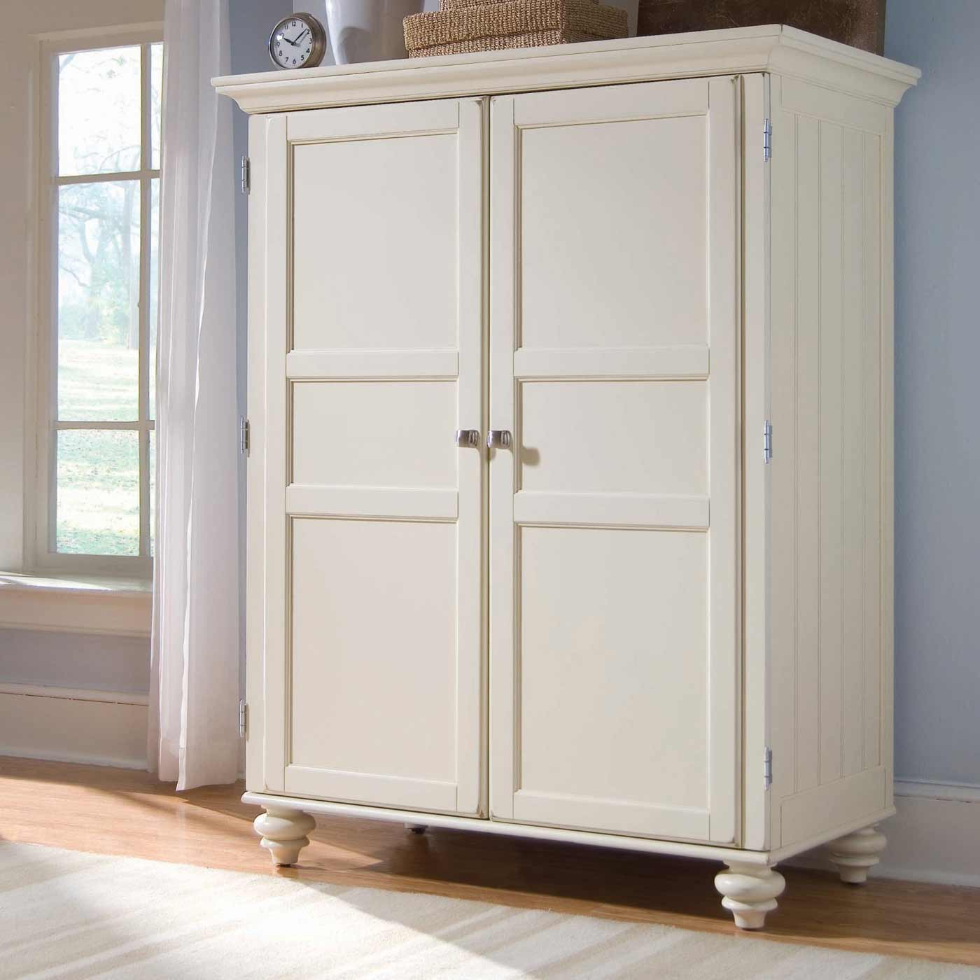 Morgan cheap armoire desk in cream white