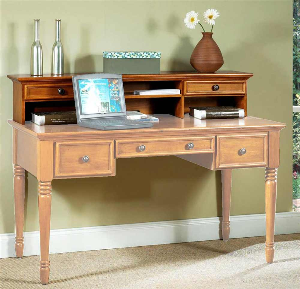 New Zealand Pine Laptop Desk Hutch Furniture Finish