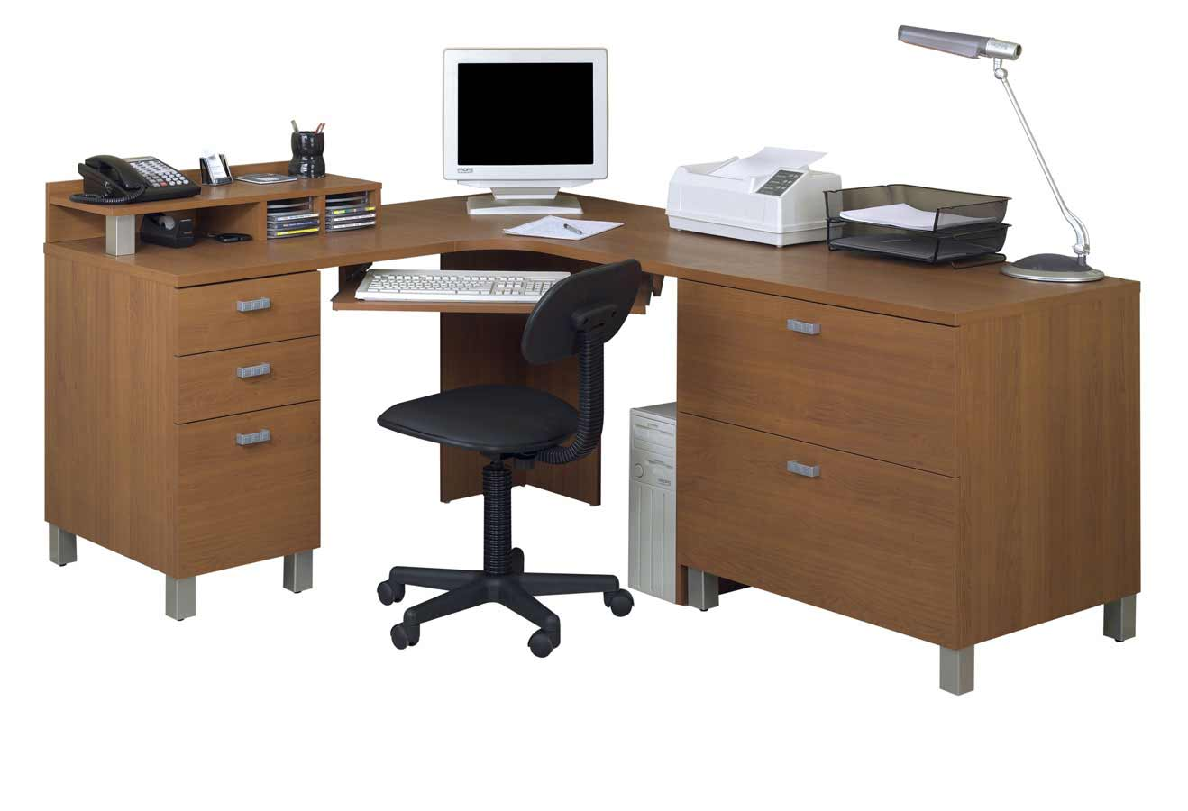 Nexera Ambiance Wooden Office Corner Computer Desk