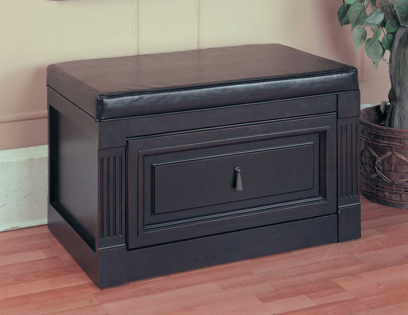 Oxford One Drawer Document Cabinet Bench from Parker House
