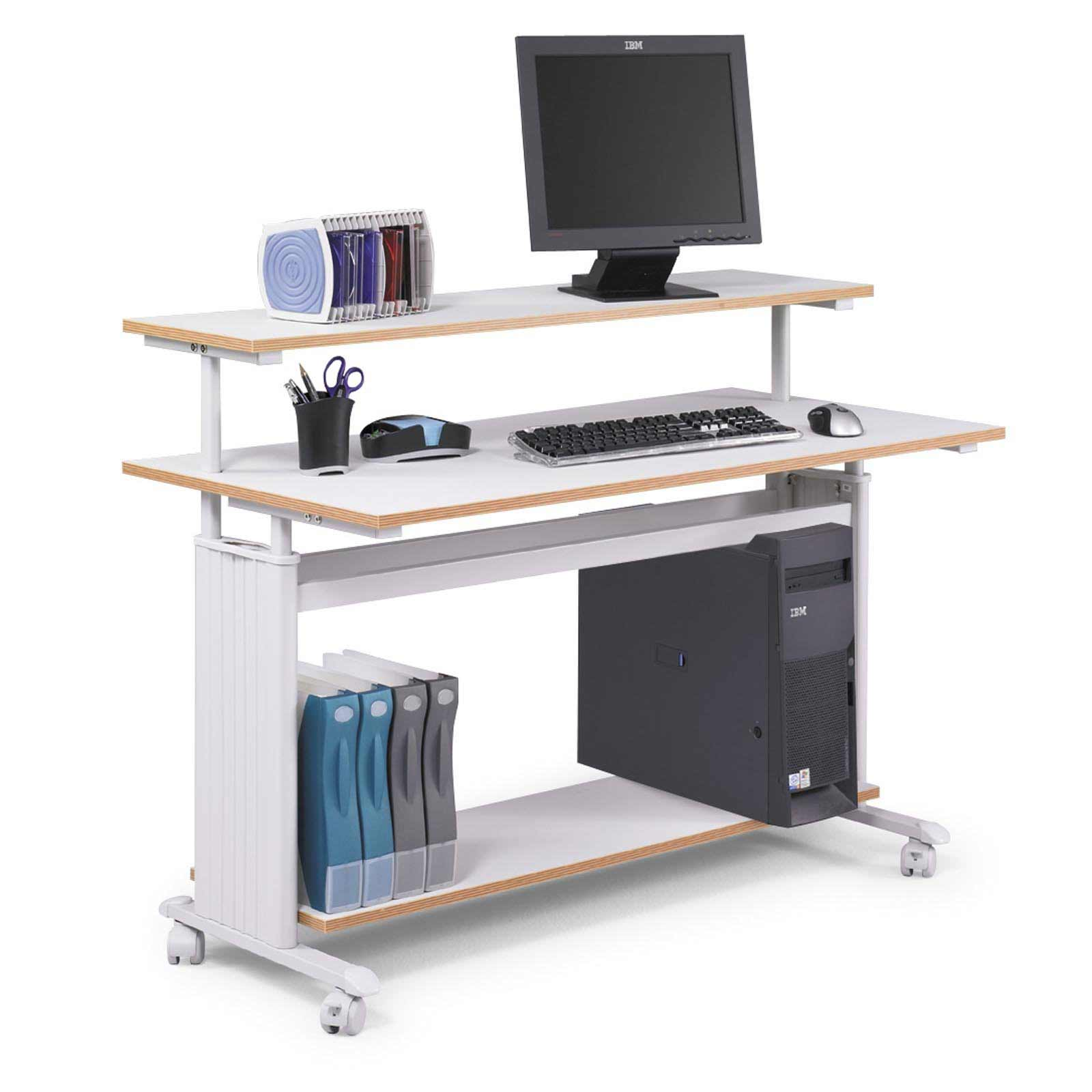 Safco big white computer desk workstation