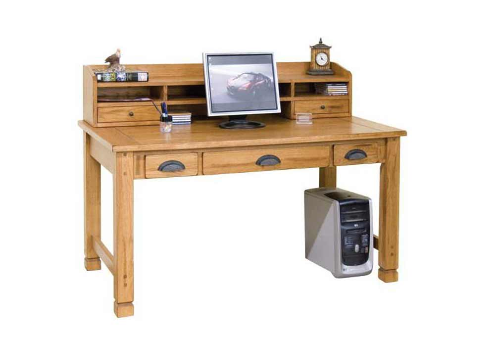 Sedona three drawer laptop writing table