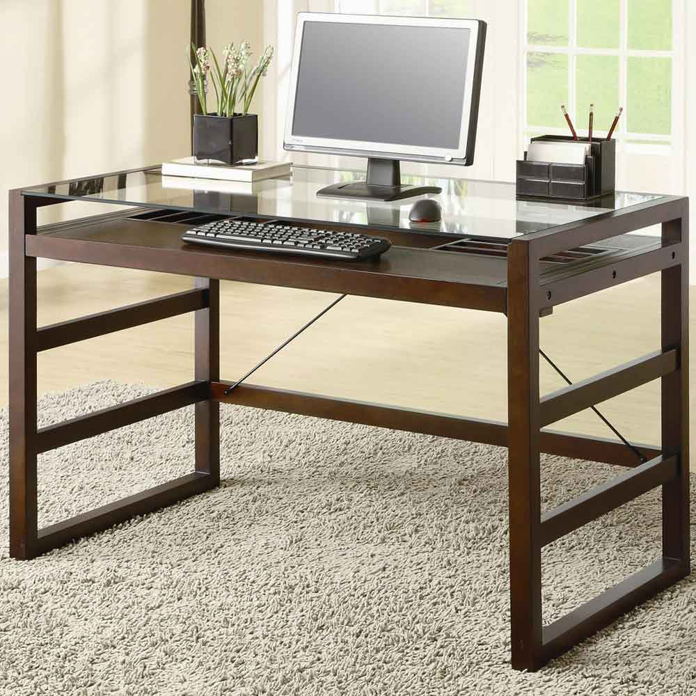 Skillman modern wooden home office computer table