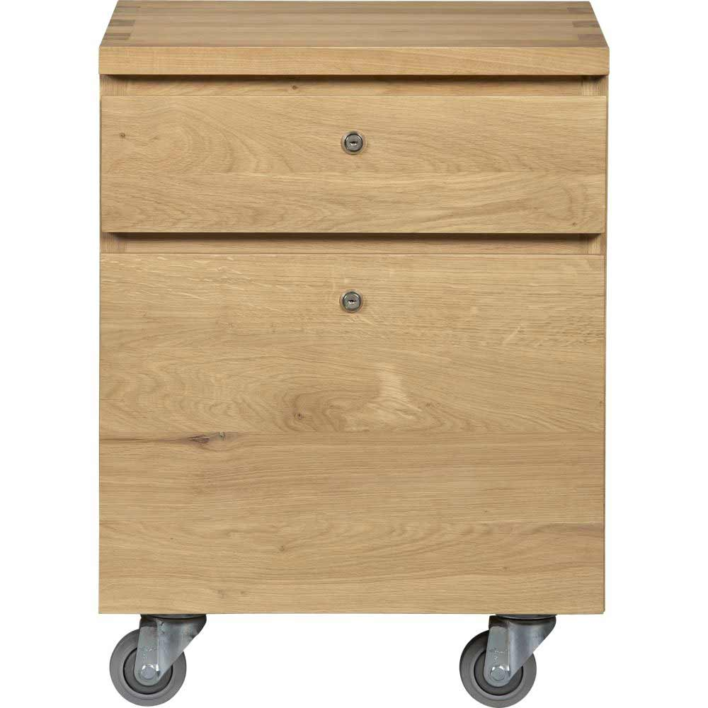 Solid oak contemporary file cabinets from Sentry