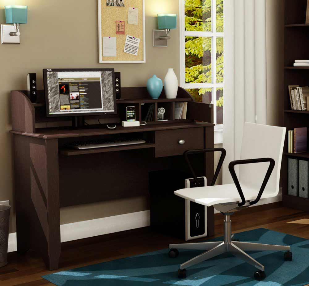 South Shore chocolate secretary desk office furniture