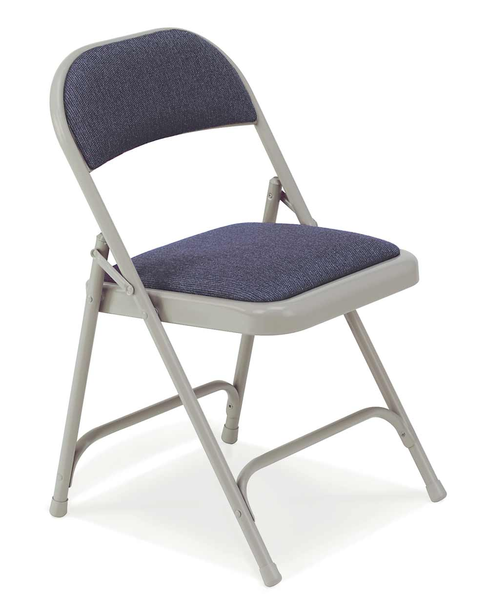 Upholstered virco folding chairs in padded seat