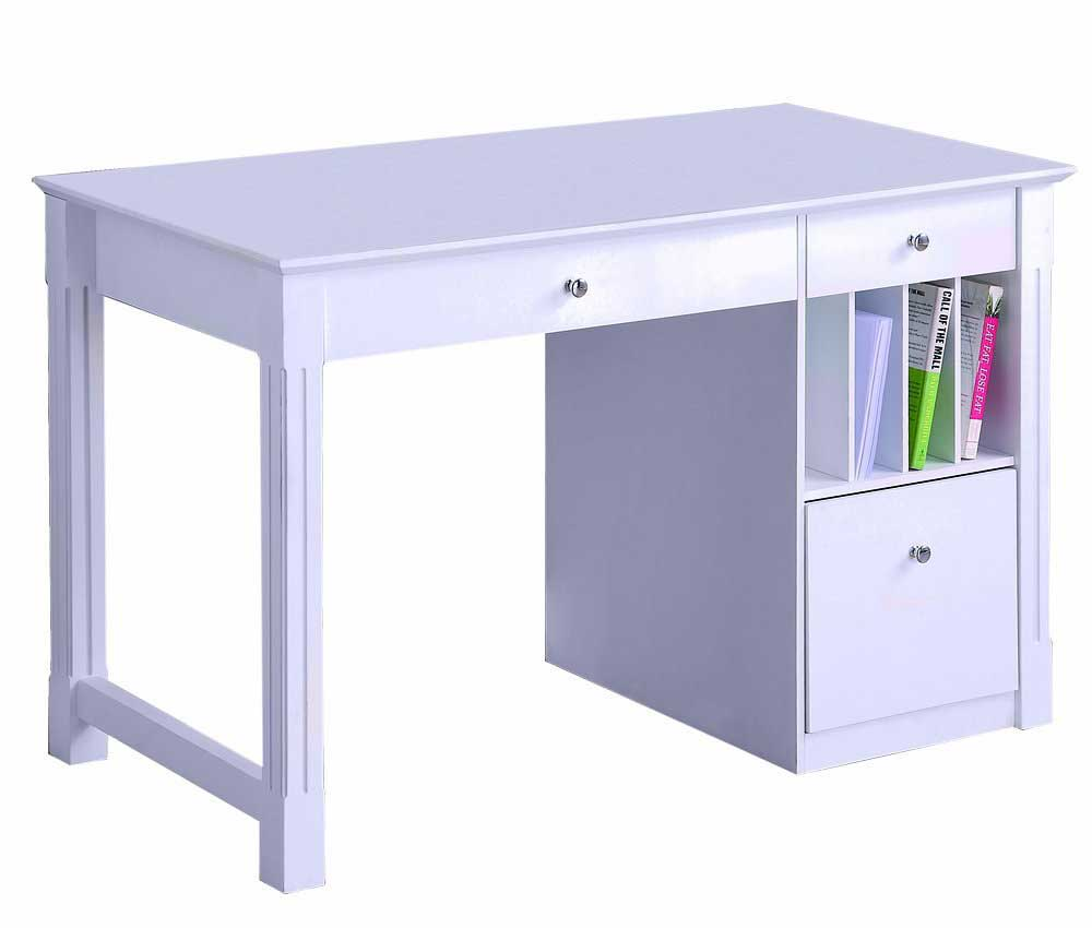 WE deluxe white solid wood writing desks