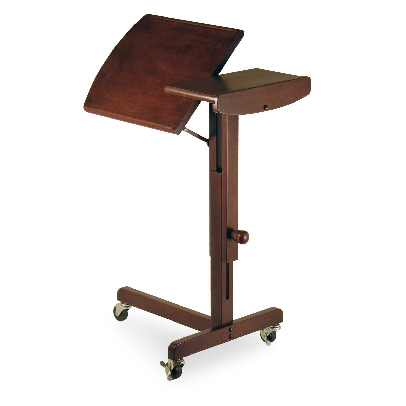 adjustable wooden laptop reading cart