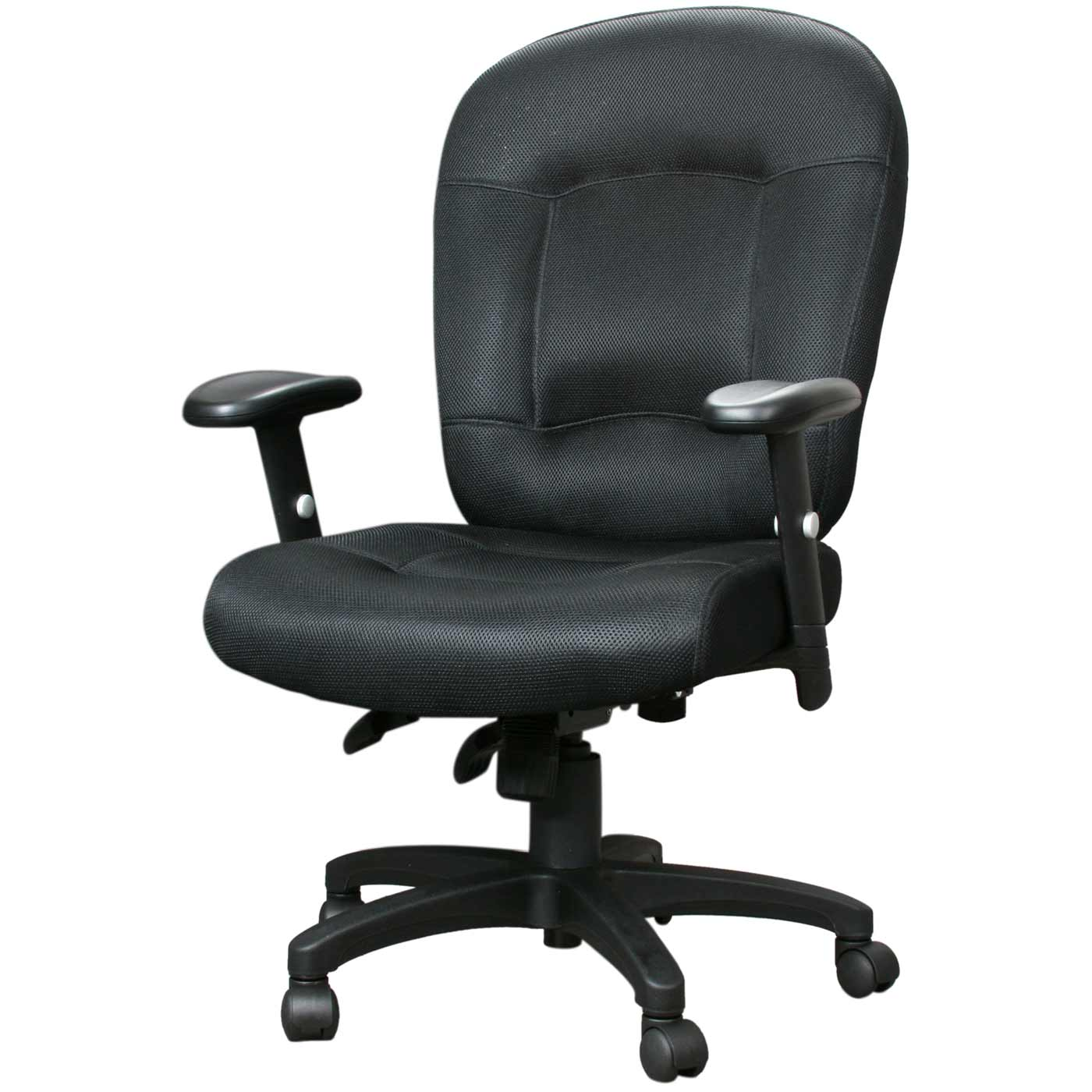 black executive ergonomic chair with armrest