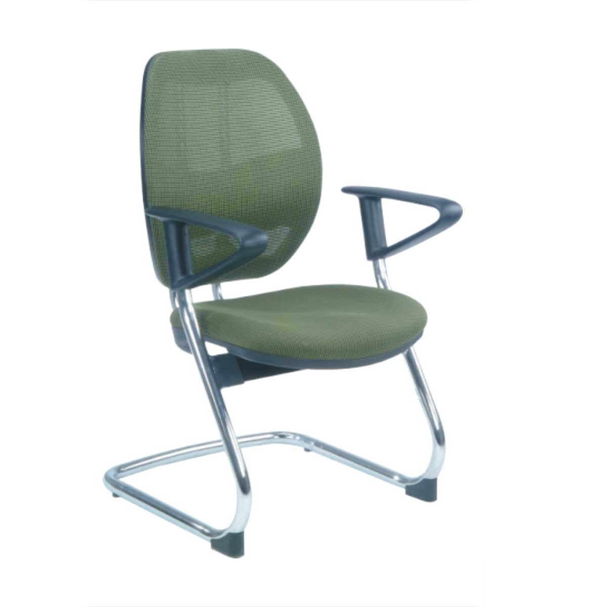 cheap metal office visitor chairs in green