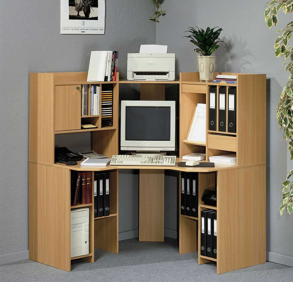 corner wooden desks for computers