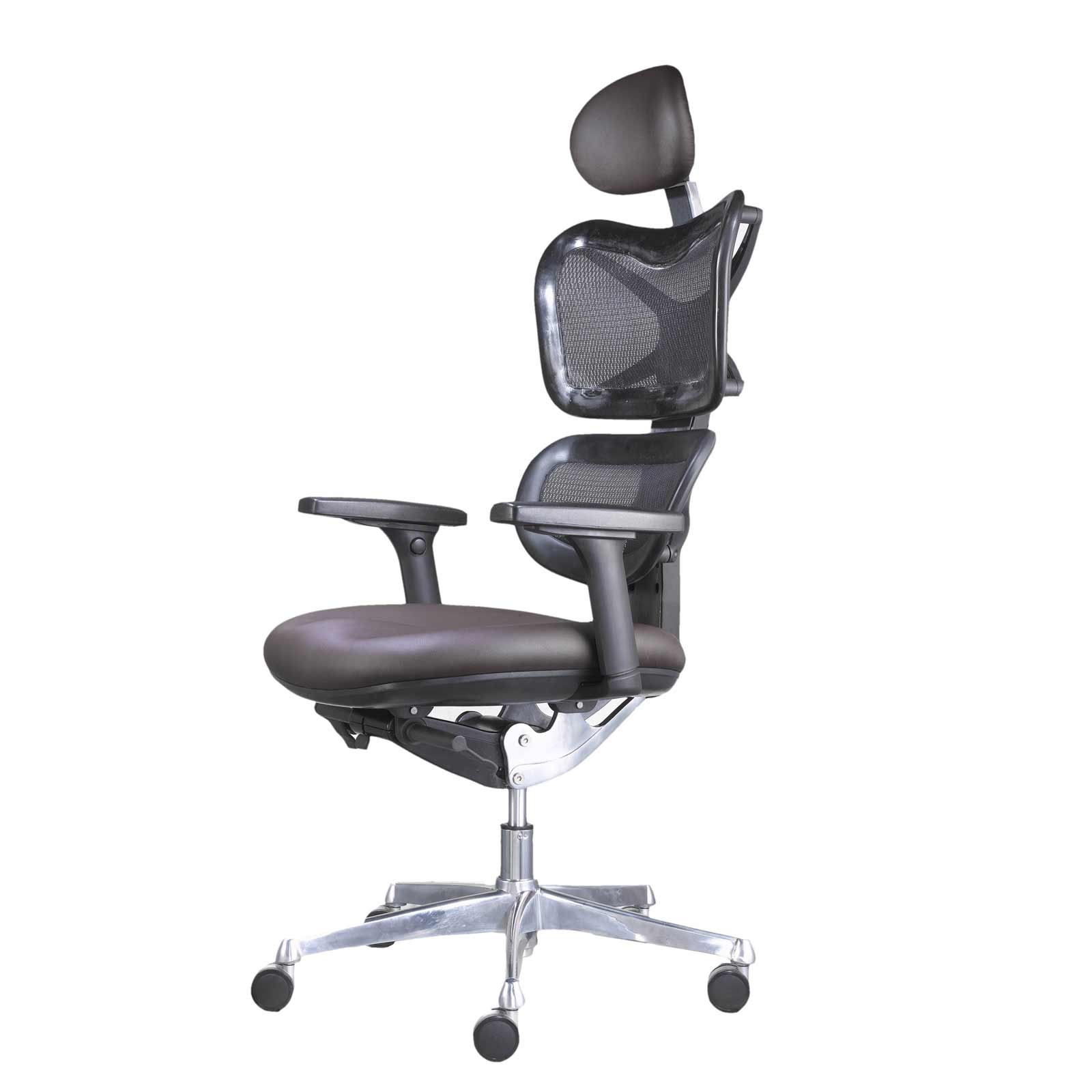 modern office mesh chair with headrest
