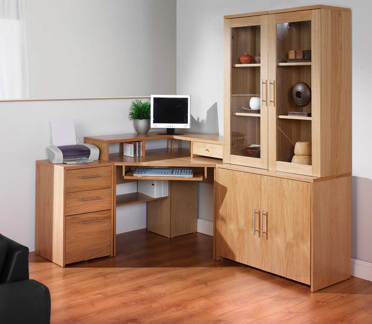 solid wood office corner desks with storage