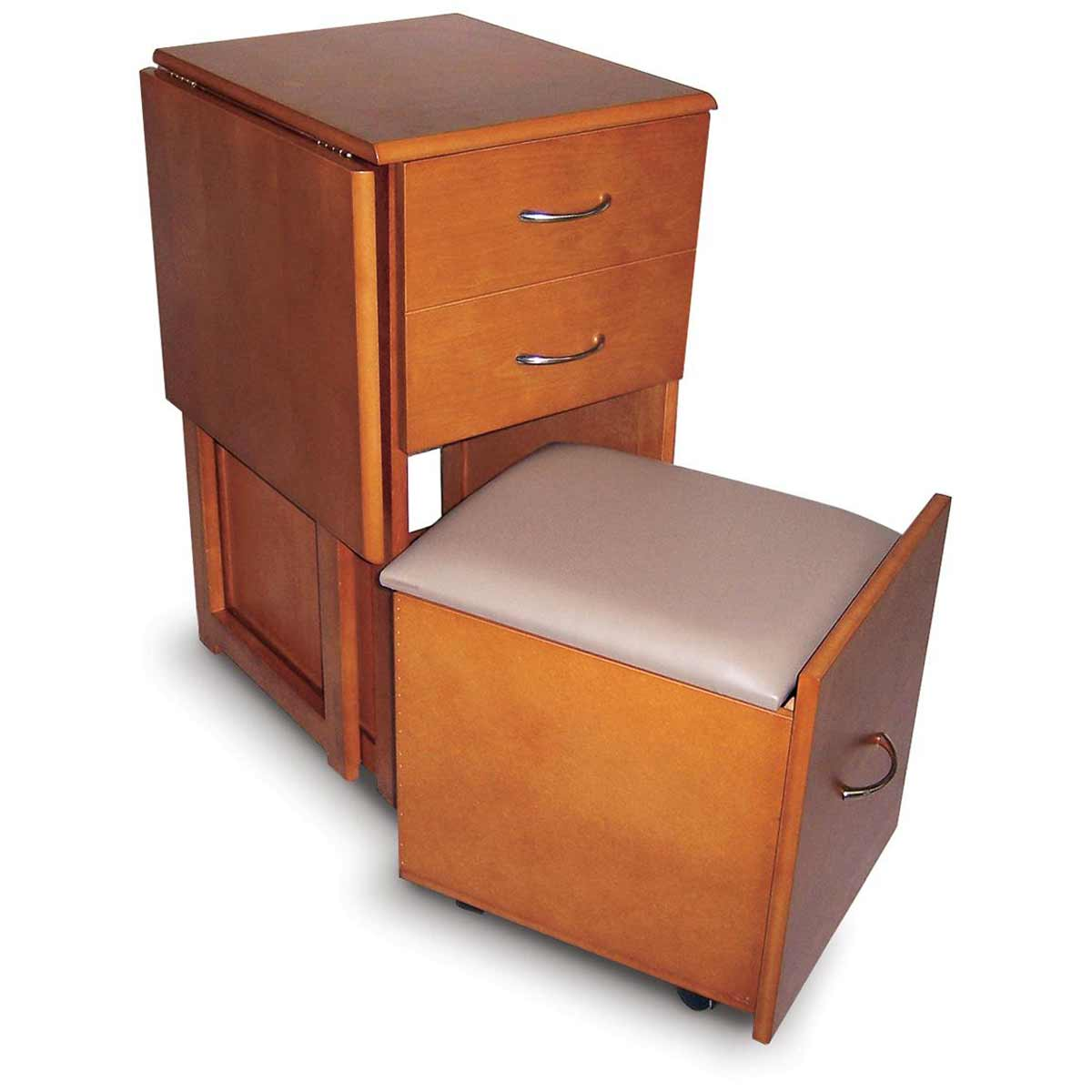 space saver desks and chair with two drawers