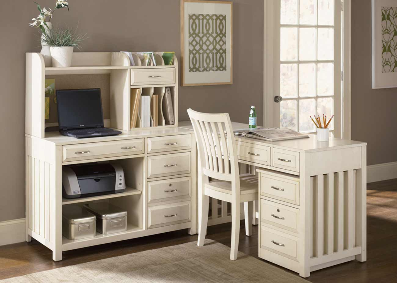 white writing desk hutch furniture