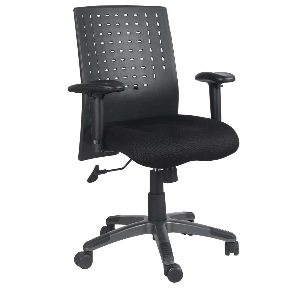 Adjustable Height Armrest Office Chair with Ergonomic Back