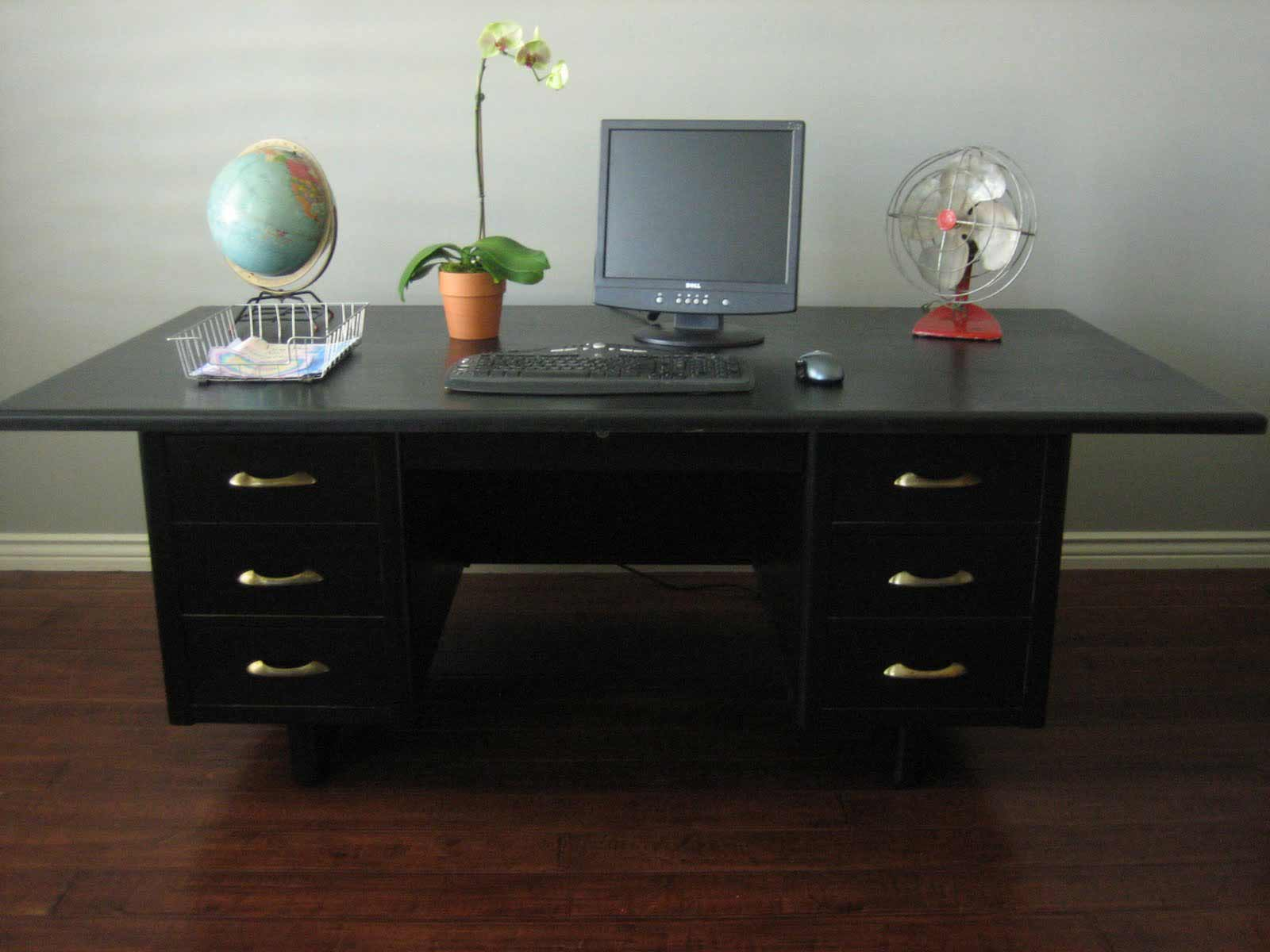 Black Cool Office Desks in Wide Size