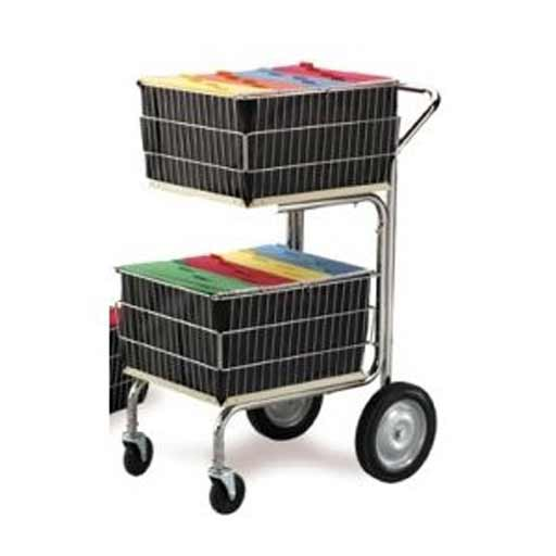 Charnstrom Compact 2 File Baskets Mail Cart