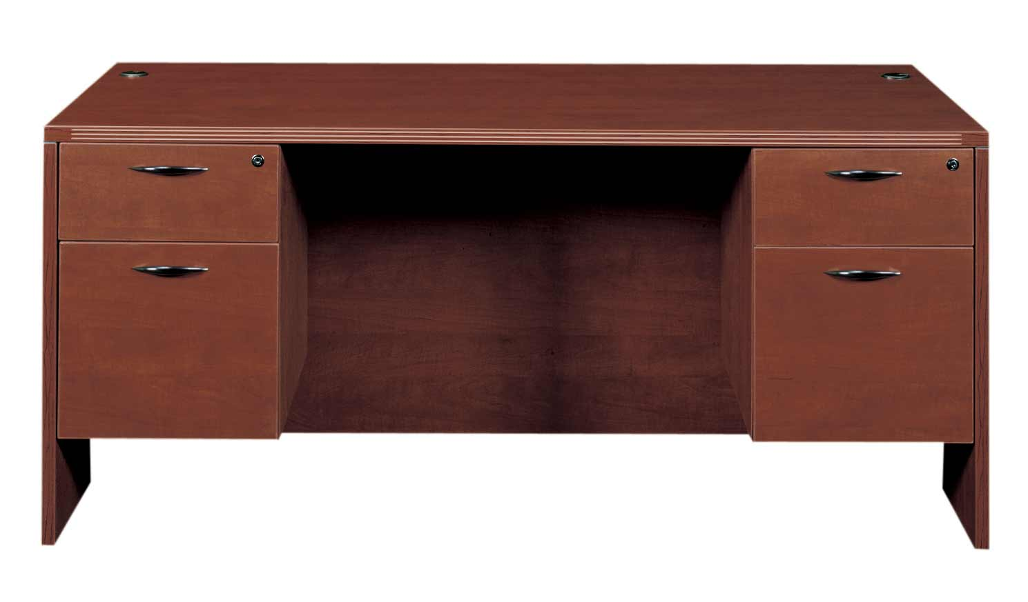 CherryMan Amber Double Pedestal Office Desk