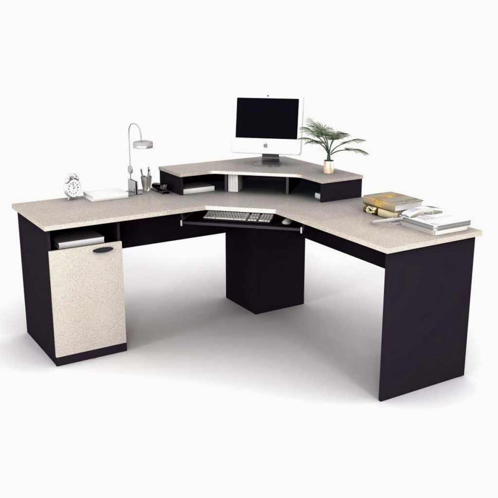 Contemporary L-Shaped Computer Workstation