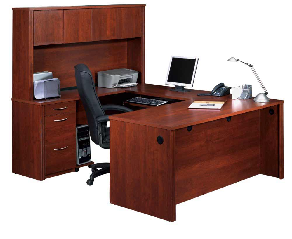 Executive U Shape Computer Desk with Hutch
