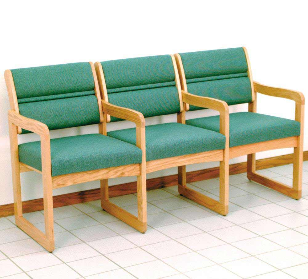 Green Home Office Waiting Room Chairs