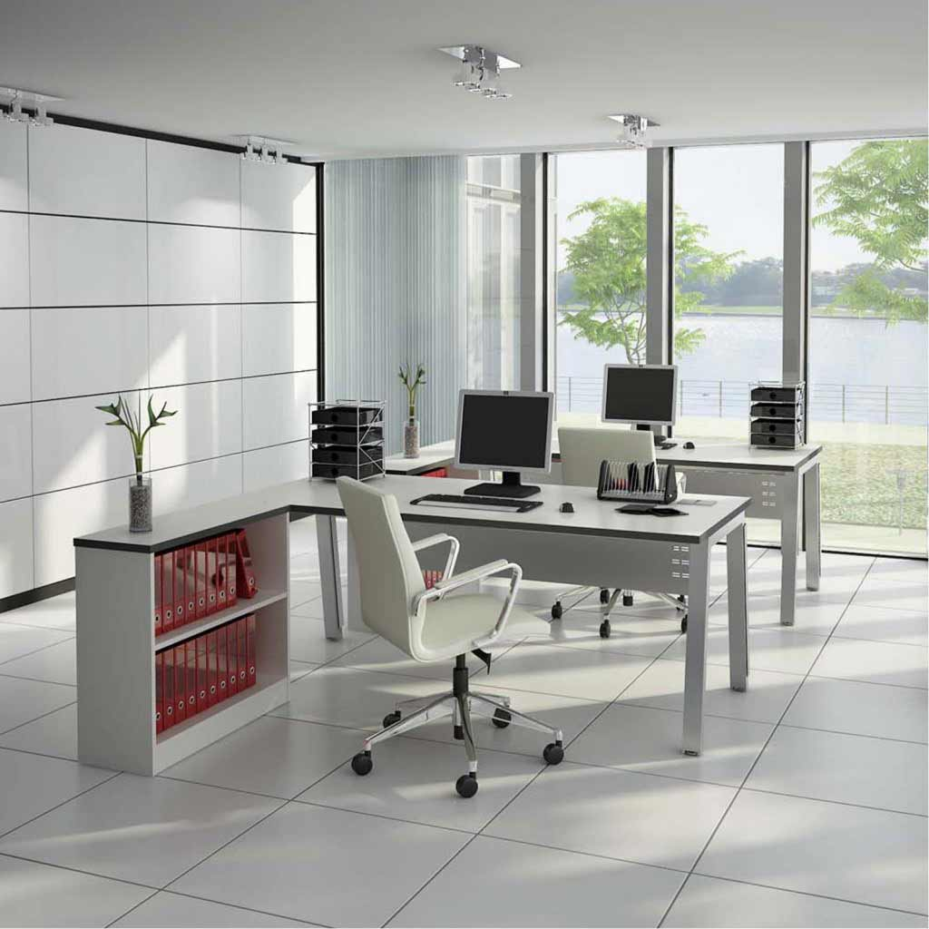Home office computer desks with chair set