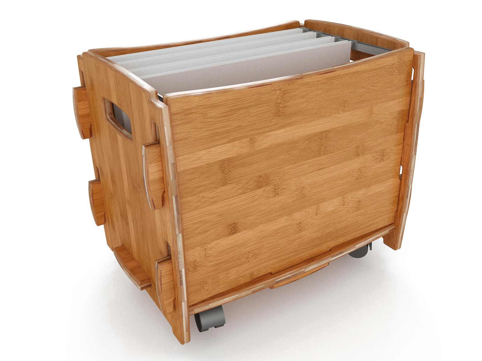 Legare Bamboo Portable File Cart Letter Size
