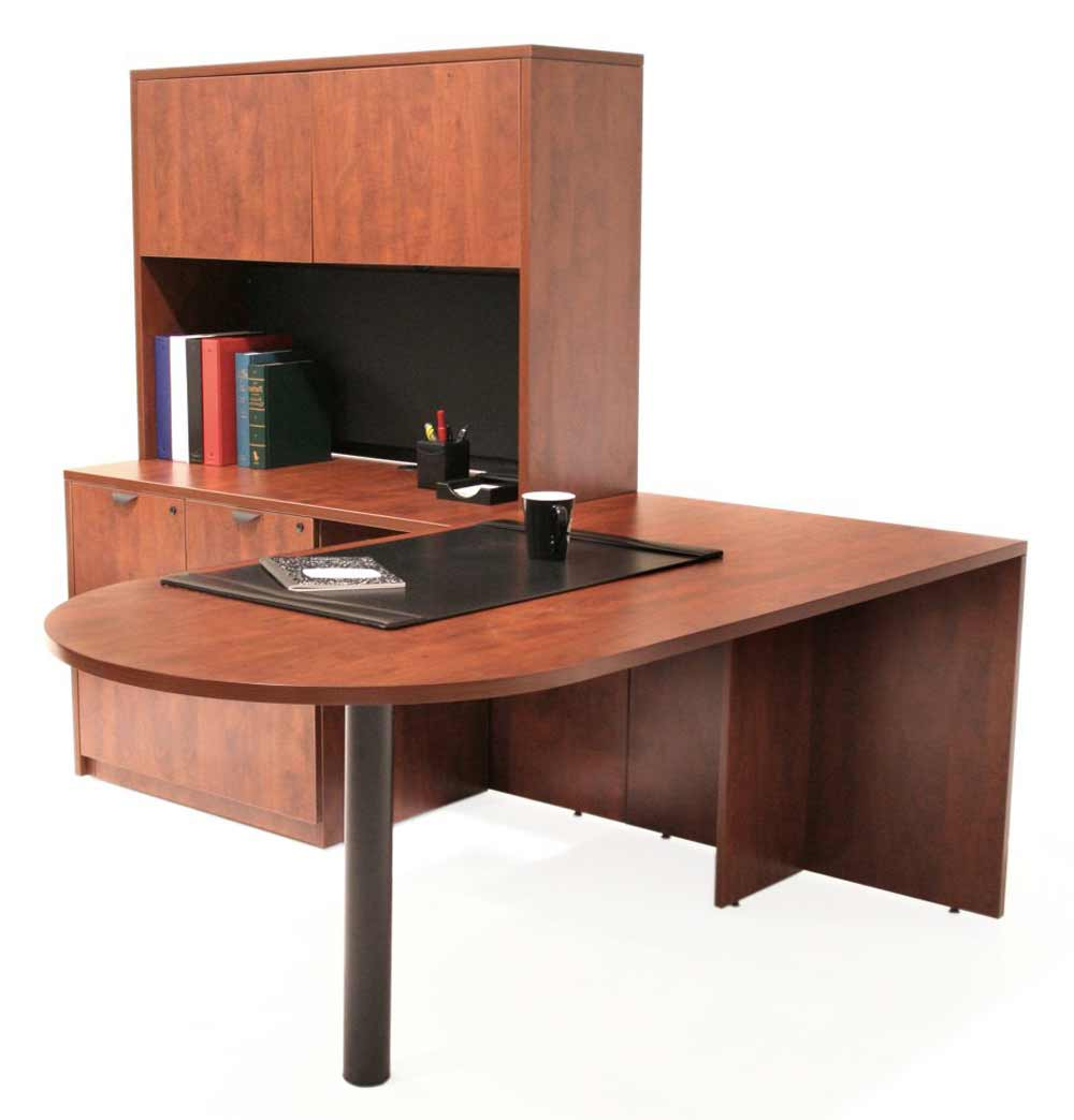 Modular executive office furniture sets