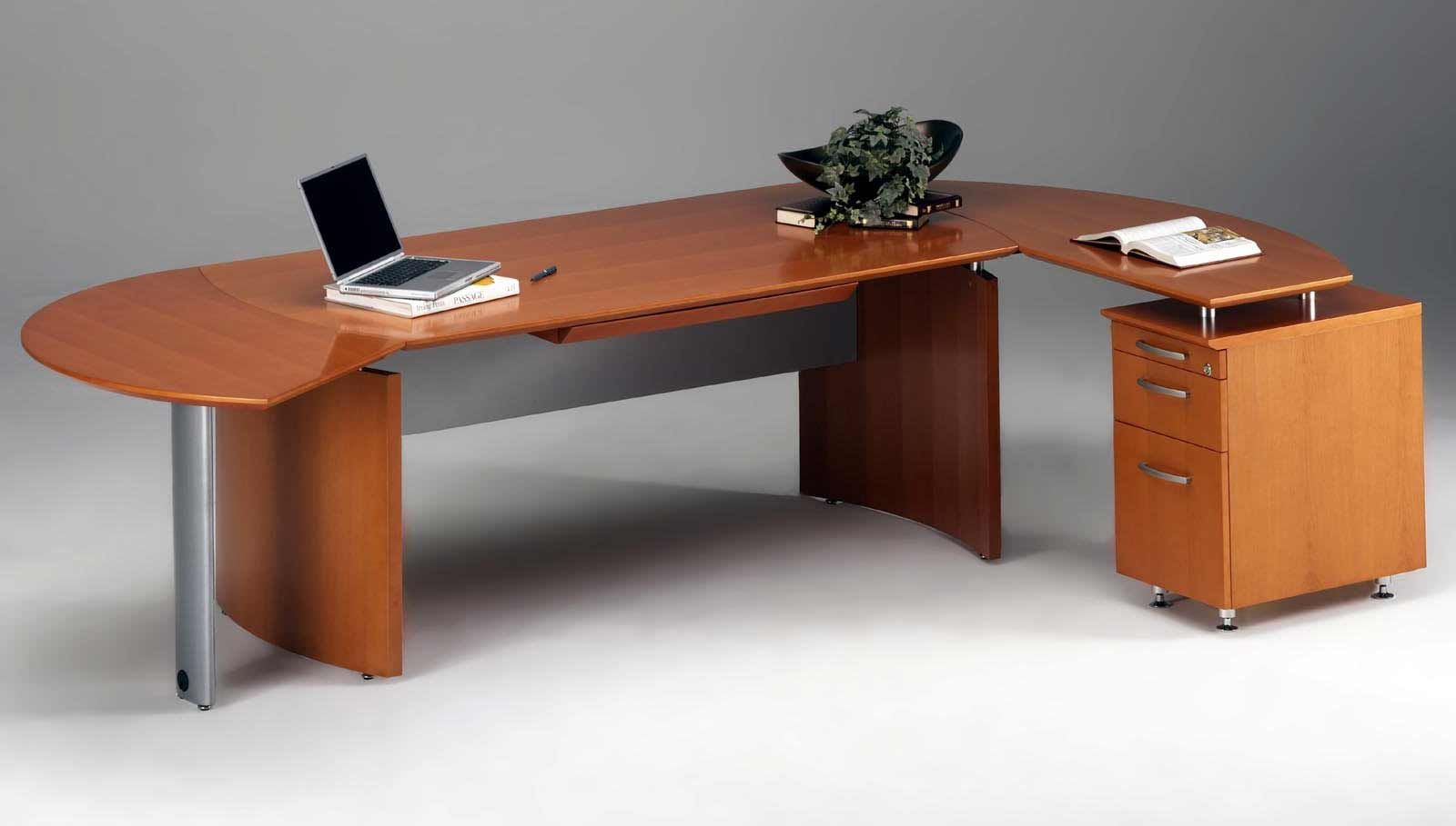 Napoli Wooden L Shaped Desk with Storage