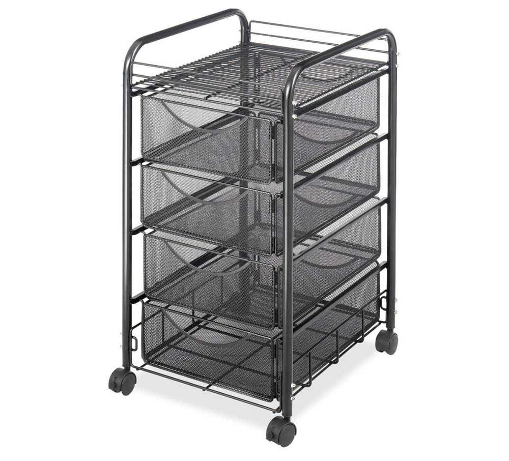 Safco Onyx 4 Drawer Mobile Office File Cart