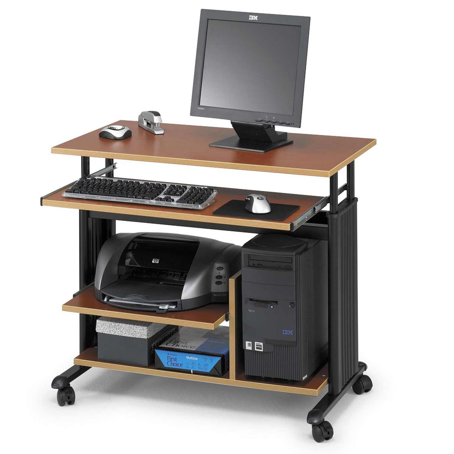 Safco movable height adjustable workstation for mini tower