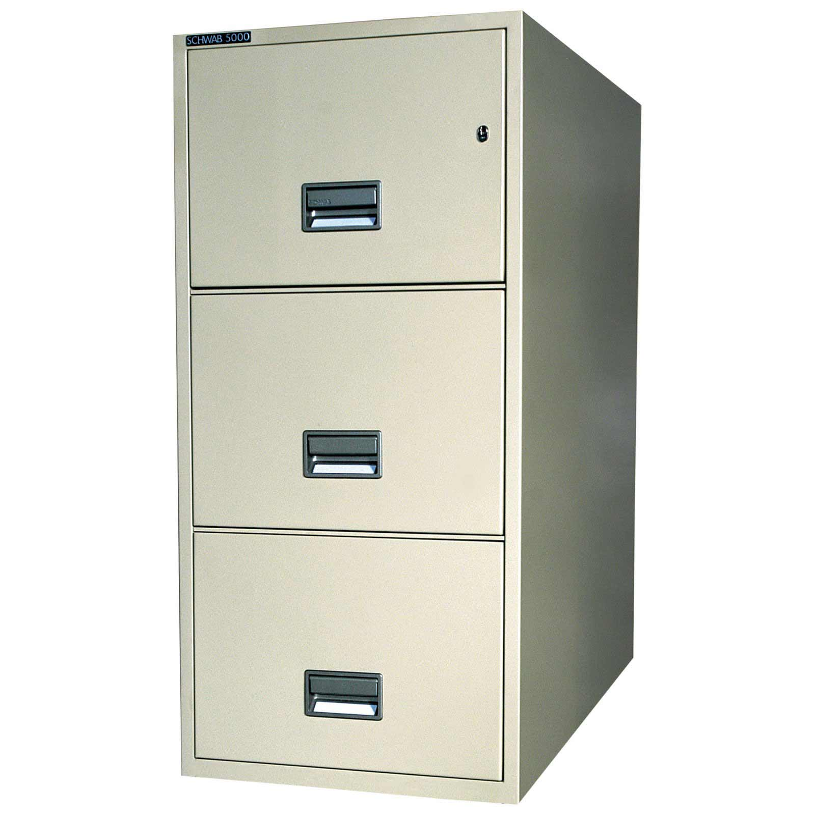 Schwab three drawer vertical file cabinet