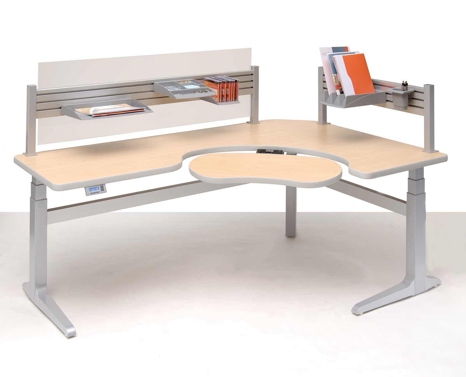 Sierra Pin Offset Corner Office Work Desk