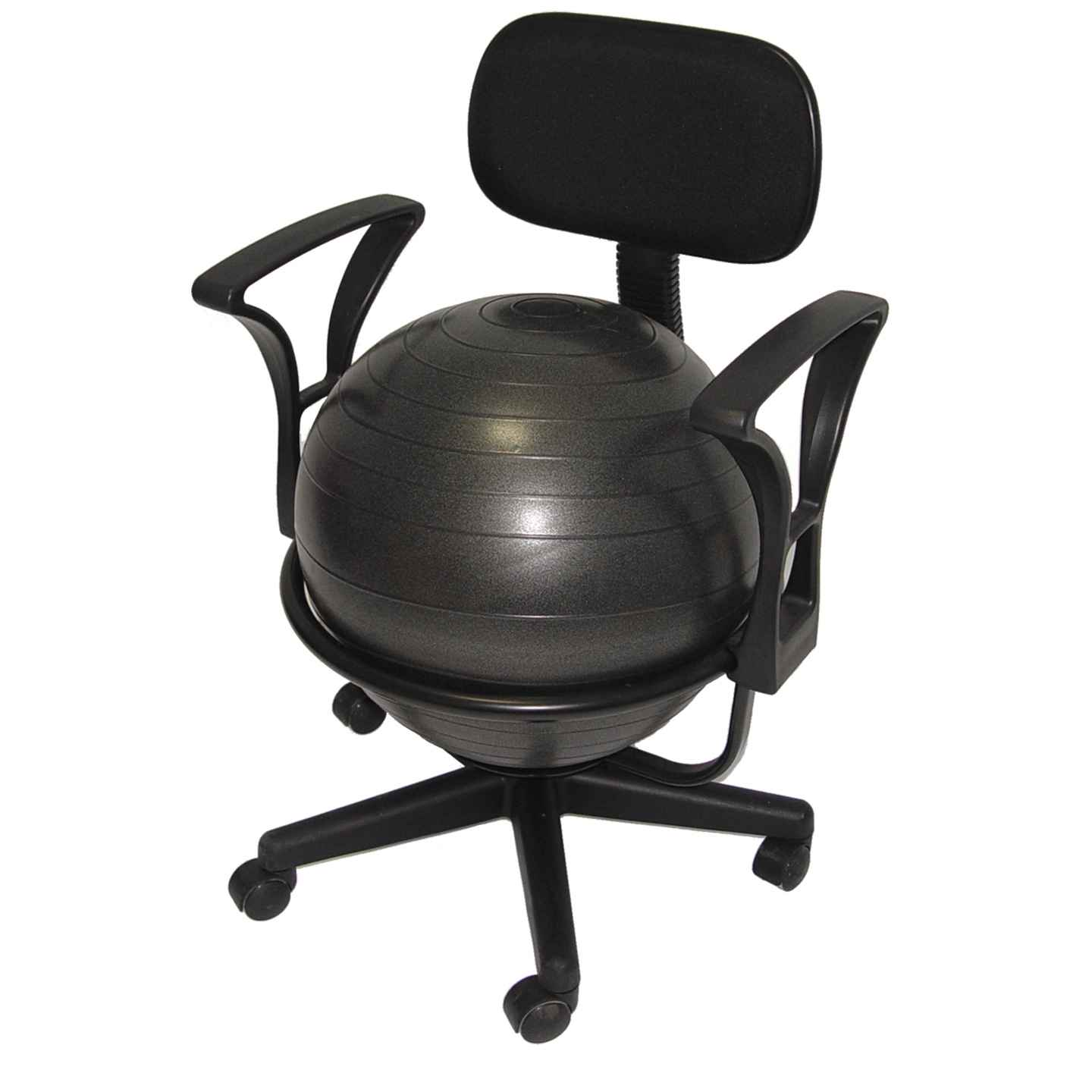 Aeromat black deluxe ergo ball chair