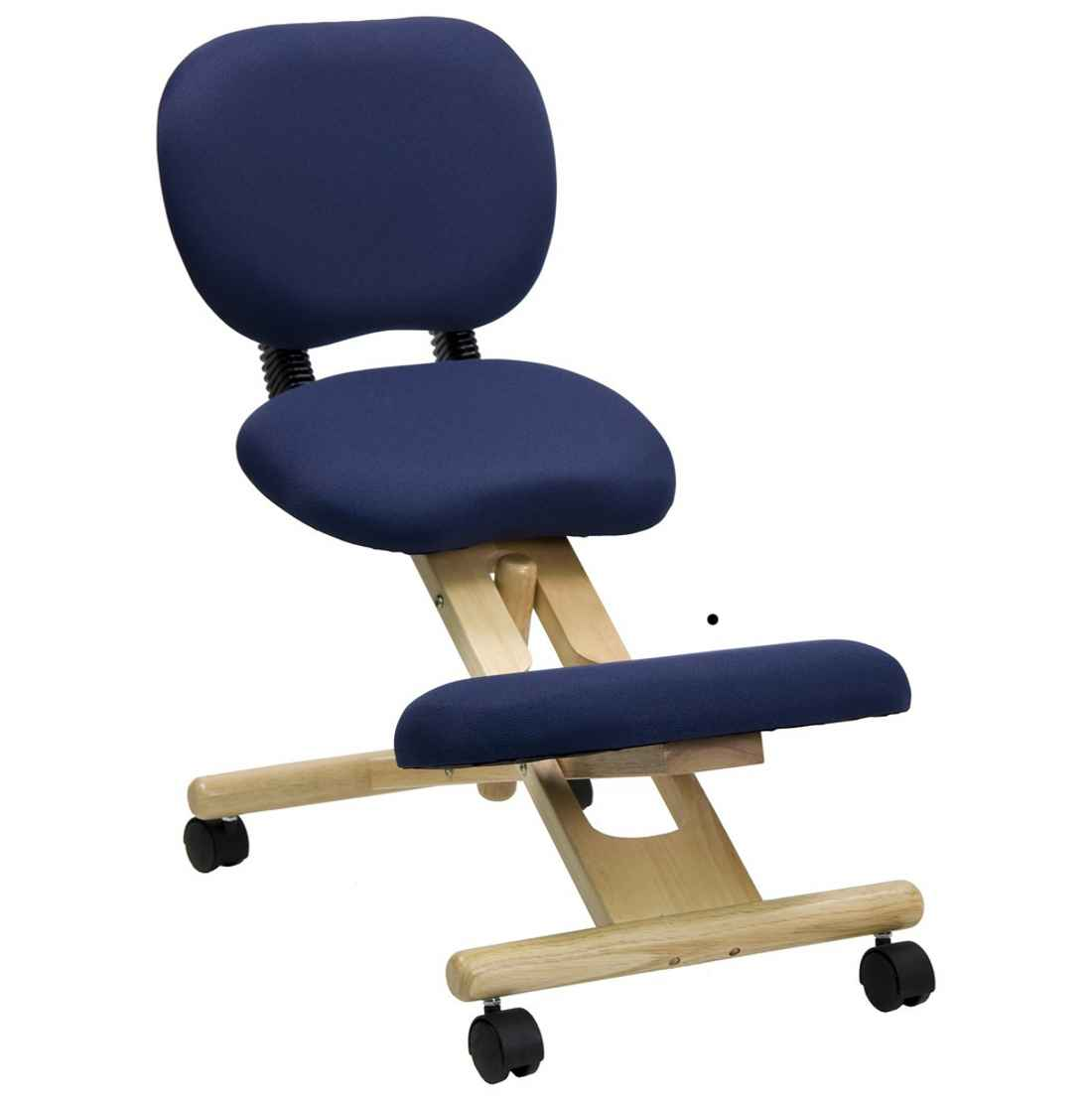 Blue Fabric Kneeling Office Chairs
