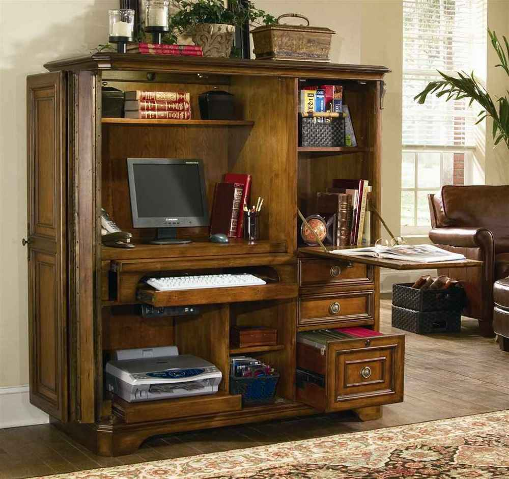 Brookhaven Cherry Home Office Computer Cabinets