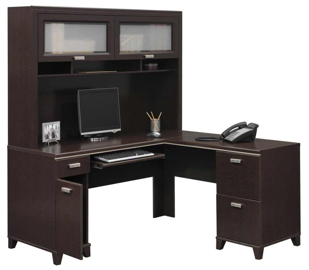 Bush Tuxedo Office L Desk with Hutch