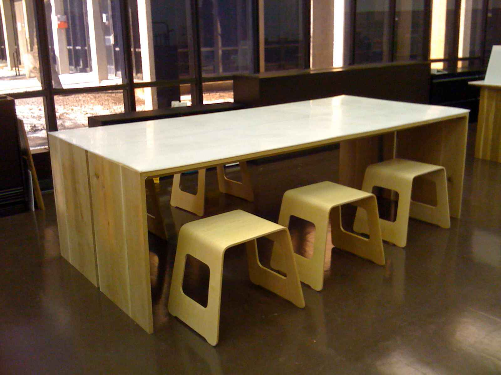 Contemporary Wooden Home Office Work Desk