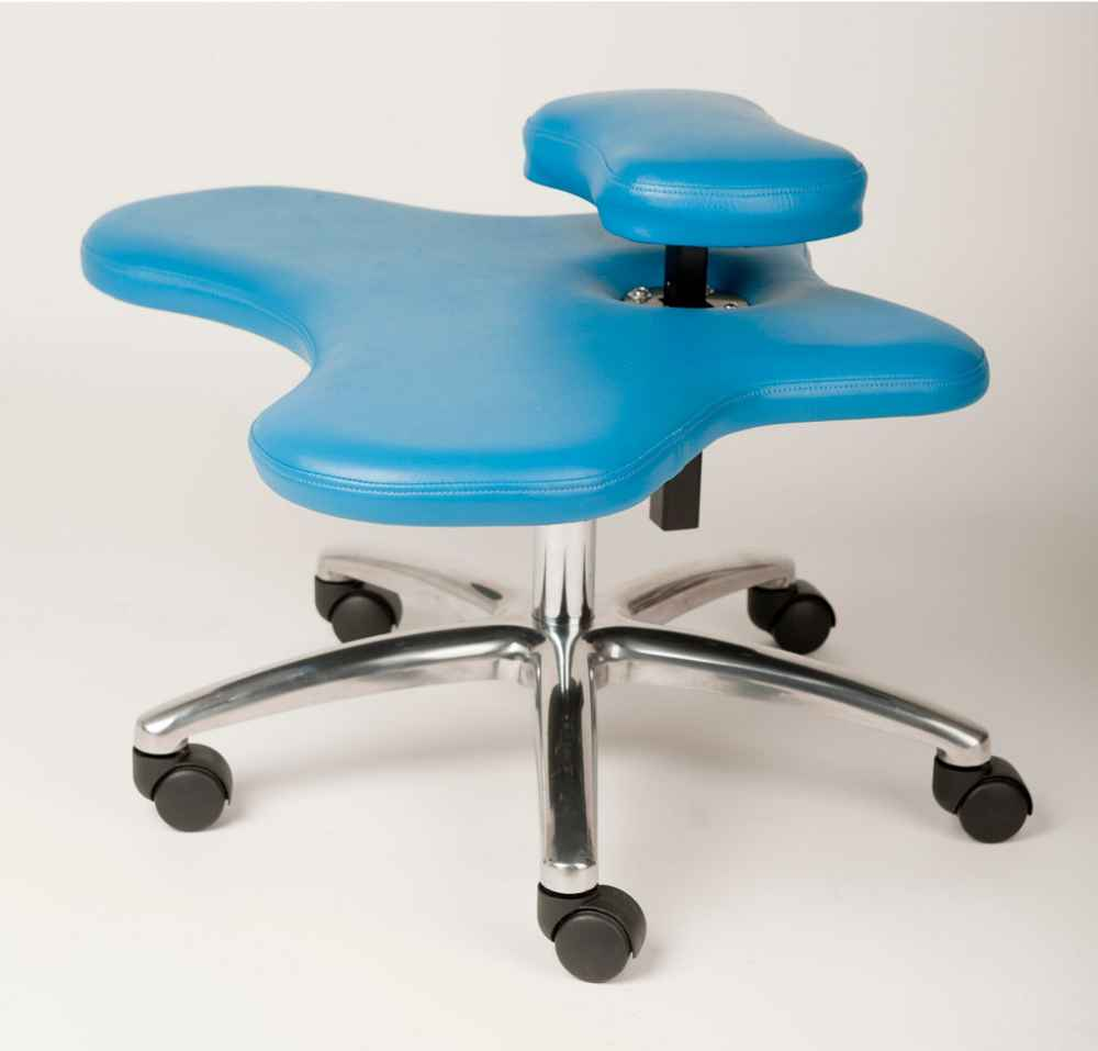 Ergonomic soul seat office chair in pale blue